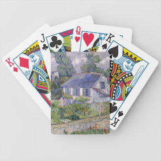 Houses at Auvers by Vincent Van Gogh Bicycle Playing Cards