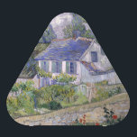 """Houses at Auvers by Vincent Van Gogh Speaker<br><div class=""""desc"""">Houses at Auvers by Vincent Van Gogh, oil on canvas 1890, is a landscape painting of homes and thatched cottages with chimneys in the French countryside, surrounded by sheds and gardens, against a background of trees and grey sky with white clouds. In the foreground a stone garden wall spans the...</div>"""