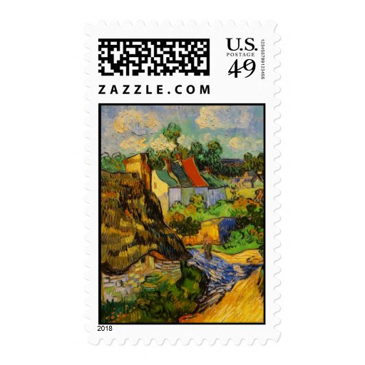 Houses At Auvers Postage Stamp