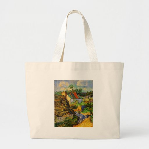 Houses At Auvers Tote Bags