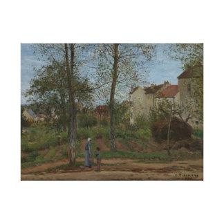 Houses at Bougival (Autumn), Pissarro Canvas Print
