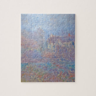 Houses at Falaise in the Fog by Claude Monet Puzzle