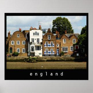 Houses at Kew, London Poster