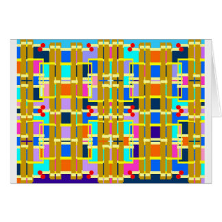 Houses, benches, a circuit board or what else? card