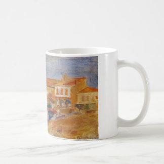 Houses by the Sea by Pierre-Auguste Renoir Coffee Mug