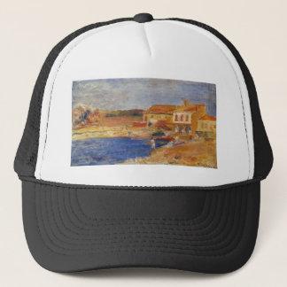 Houses by the Sea by Pierre-Auguste Renoir Trucker Hat