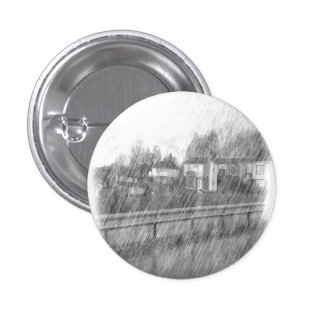 Houses drawing 1 inch round button
