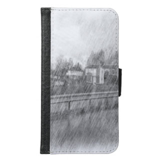 Houses drawing samsung galaxy s6 wallet case