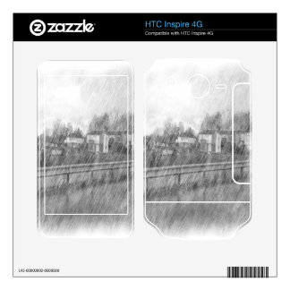 Houses drawing decals for HTC inspire 4G