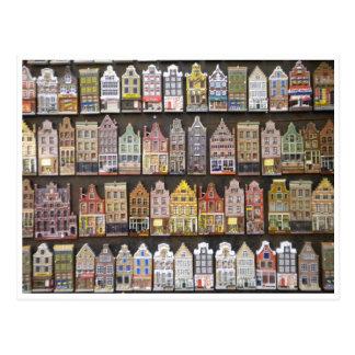Houses greetingcard postcard