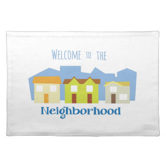Houses in a Row Cloth Placemat