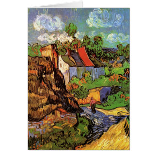 Houses in Auvers Cards