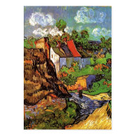 Houses in Auvers, Fine art by Vincent van Gogh. Business Card Templates