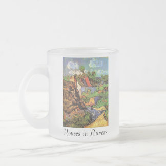 Houses in Auvers 10 Oz Frosted Glass Coffee Mug