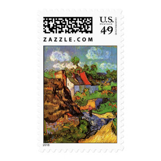 Houses in Auvers Postage Stamp
