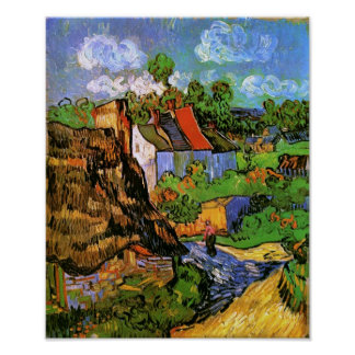 Houses in Auvers Van Gogh Fine Art Poster