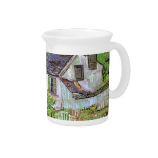 Houses in Auvers,Vincent van Gogh. Beverage Pitcher
