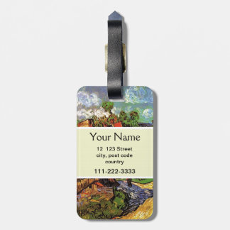 Houses in Auvers, Vincent van Gogh. Village Luggage Tag
