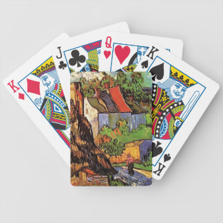 Houses in Auvers, Vincent van Gogh. Village Bicycle Playing Cards