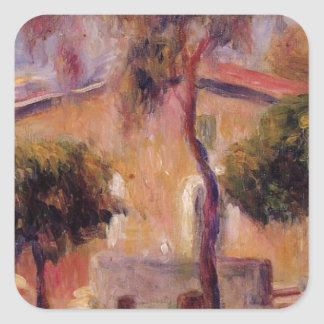 Houses in Cagnes by Pierre-Auguste Renoir Square Sticker