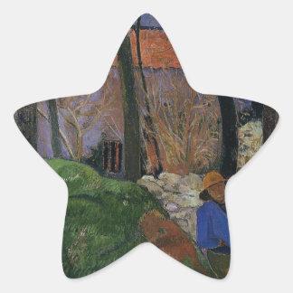 Houses in le Pouldu by Paul Gauguin Star Sticker