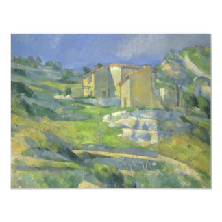"""Houses in Provence by Cezanne, Vintage Fine Art 4.25"""" X 5.5"""" Invitation Card"""