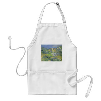 Houses in Provence by Paul Cezanne, Vintage Art Adult Apron
