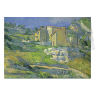 Houses in Provence by Paul Cezanne, Vintage Art Card
