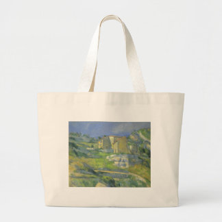 Houses in Provence by Paul Cezanne, Vintage Art Large Tote Bag