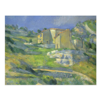 Houses in Provence by Paul Cezanne, Vintage Art Postcard