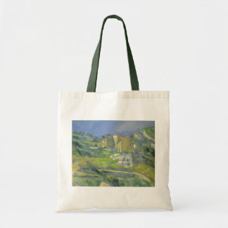 Houses in Provence by Paul Cezanne, Vintage Art Tote Bag