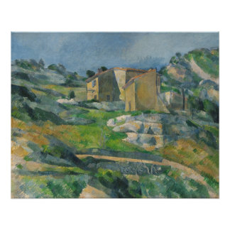 Houses in the Provence: The Riaux Valley Poster
