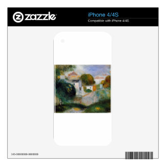 Houses in the Trees by Pierre-Auguste Renoir iPhone 4 Decal