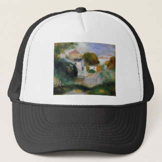 Houses in the Trees by Pierre-Auguste Renoir Trucker Hat