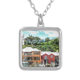 Houses Near Hamilton Silver Plated Necklace