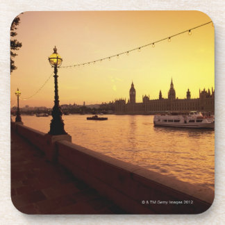 Houses of Parliament at Sunset Beverage Coaster