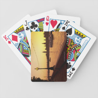 Houses of Parliament at Sunset Bicycle Playing Cards