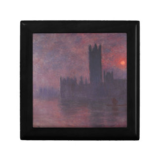 Houses of Parliament at Sunset by Claude Monet Keepsake Box