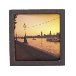 Houses of Parliament at Sunset Jewelry Box