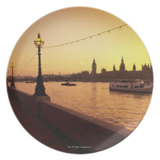 Houses of Parliament at Sunset Melamine Plate