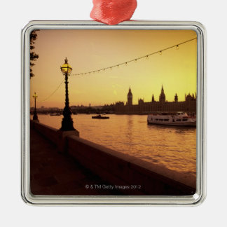 Houses of Parliament at Sunset Metal Ornament