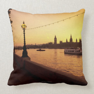 Houses of Parliament at Sunset Throw Pillow