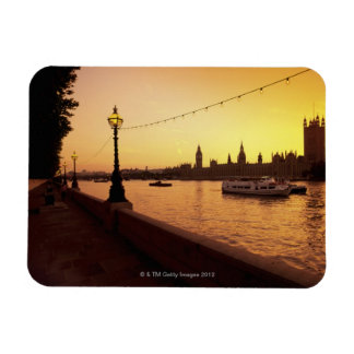 Houses of Parliament at Sunset Rectangle Magnets