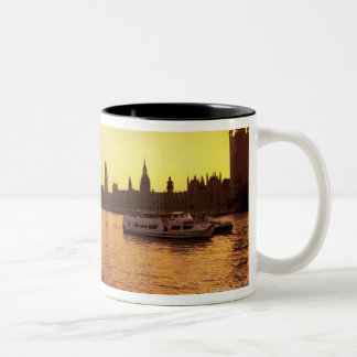 Houses of Parliament at Sunset Two-Tone Coffee Mug