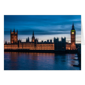 Houses of Parliament & Big Ben, London, England Card