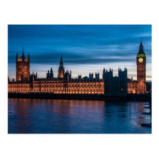 Houses of Parliament & Big Ben, London, England Postcard