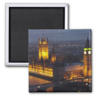 Houses of Parliament, Big Ben, Westminster 2 Inch Square Magnet