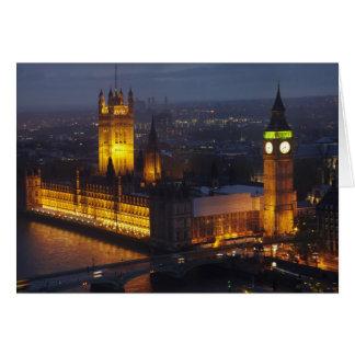 Houses of Parliament, Big Ben, Westminster Card