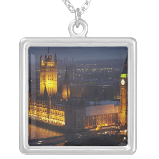 Houses of Parliament, Big Ben, Westminster Silver Plated Necklace
