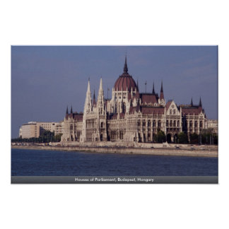 Houses of Parliament, Budapest, Hungary Poster